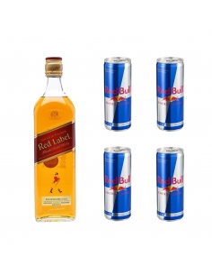 Pack JW Red 70cl. + 4 Red Bull